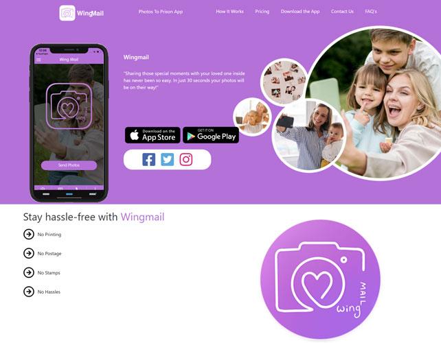 Wing Mail Website Design