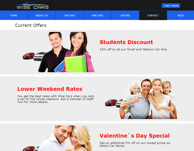 Online Car Hire Portal