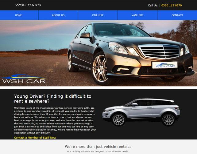 Vehicle Rentals Business Website
