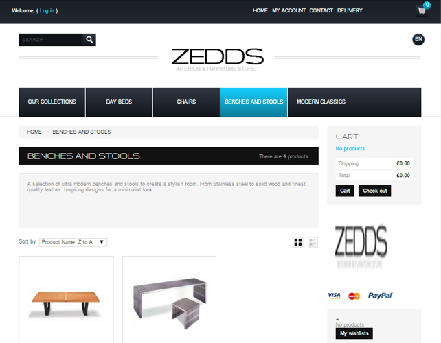 eCommerce Furniture Website
