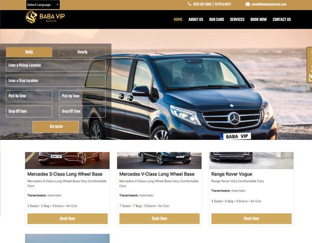 Car hire company Website