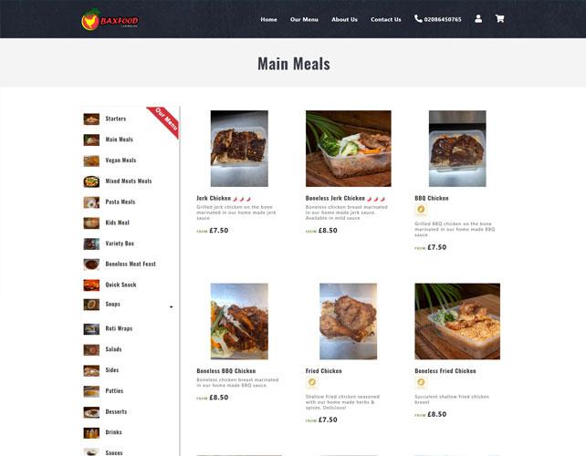 Baxfood Caribbean Website Design