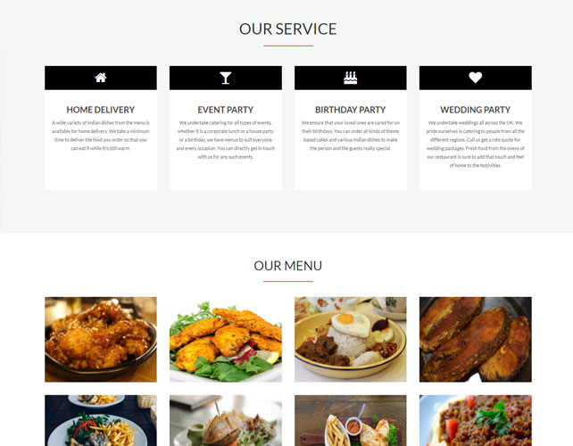 Restaurant Business Website Design