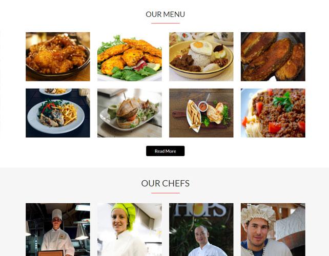 Restaurant Business Website Design