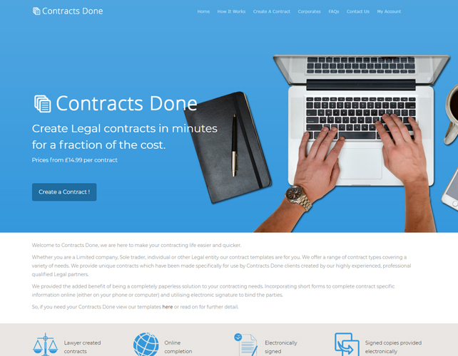 Contracts Making Website