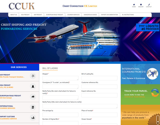 Crest Connection Website Design