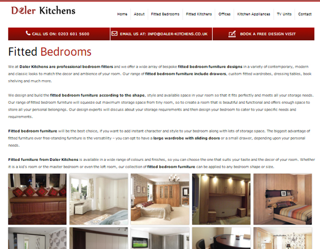 Responsive website for interiors business