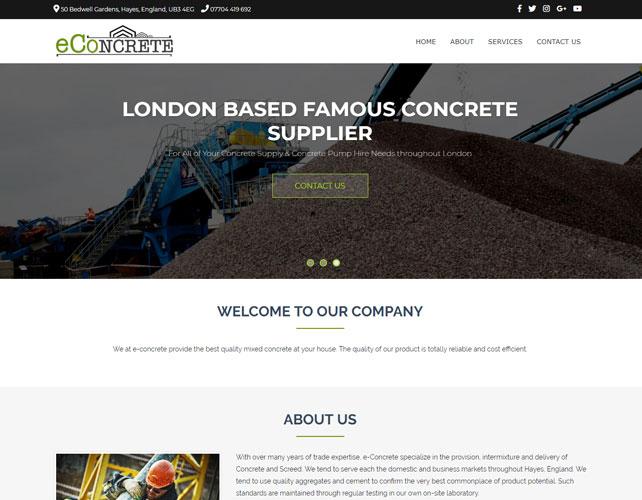 Concrete Supply Website
