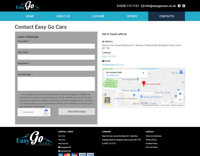 Rentals Website Design
