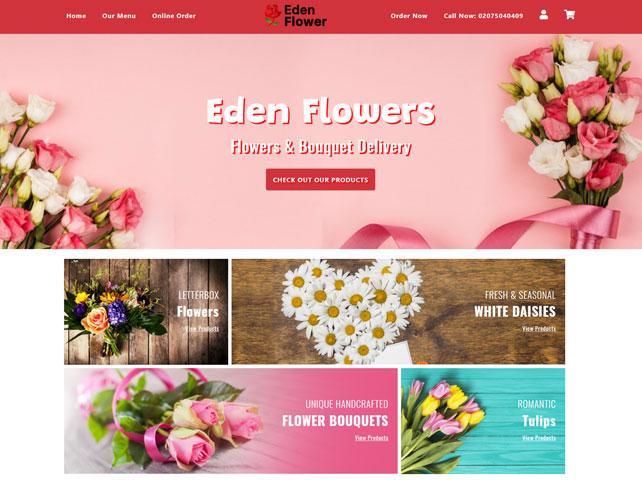 Eden Flower Website Design
