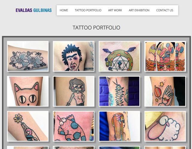 Tattoo Website Design