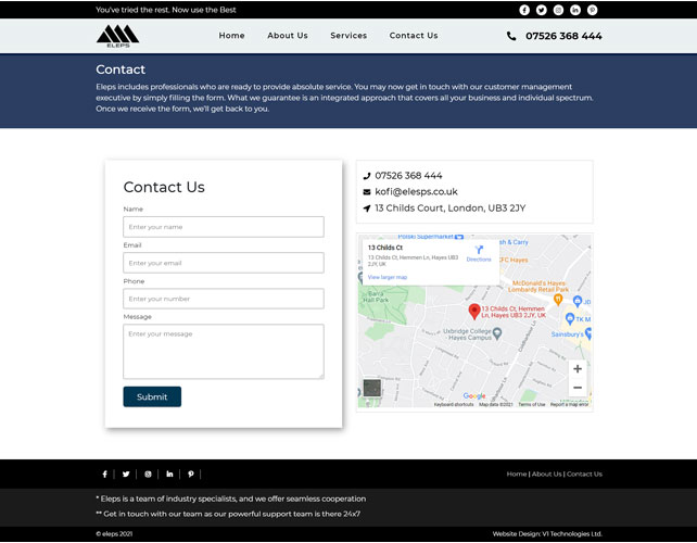 Eleps Website Design