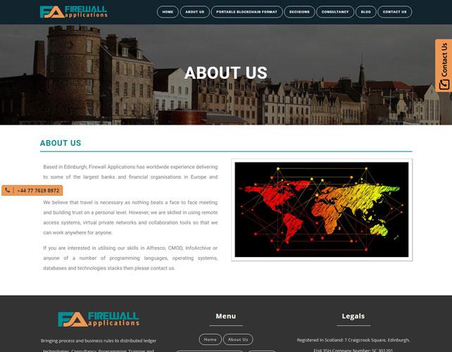 Firewall Website Design
