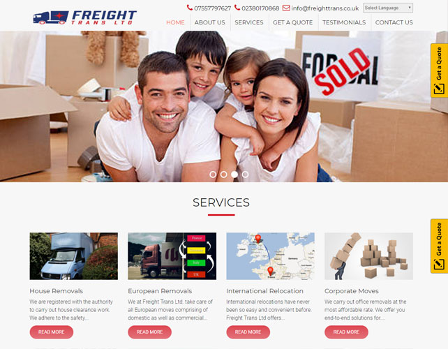 Removals logistics services Website