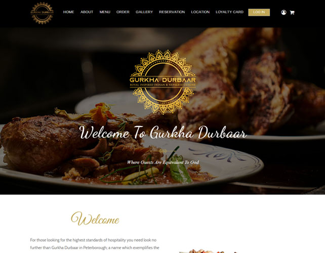 Nepalese and Indian Restaurant Website