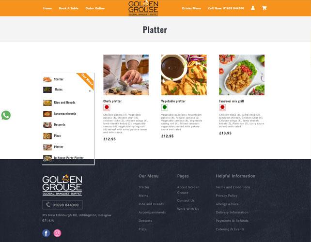 Buffet Restaurant Website