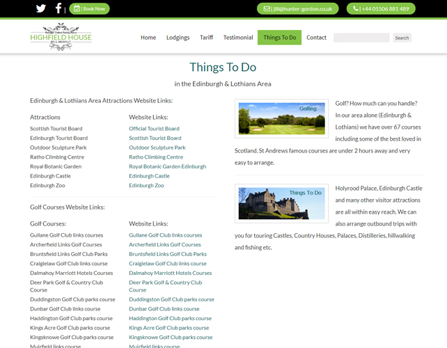 Scottish Country House Website