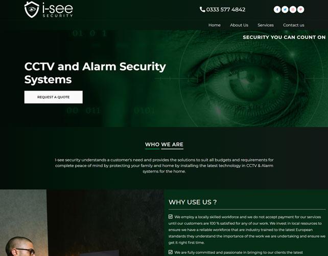 I See Security Website Design