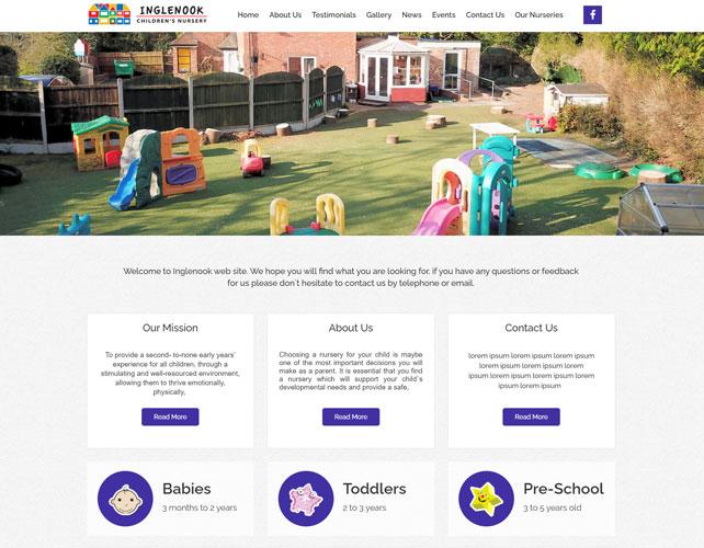 Inglenook Nursery Website Design