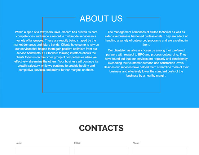 Telecom Website Design