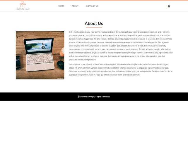 Gift based website