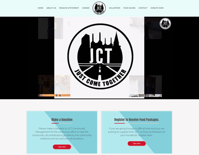 Jct Community Website Design