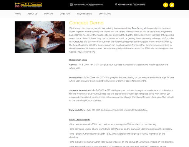 Marketing Advertisement Website