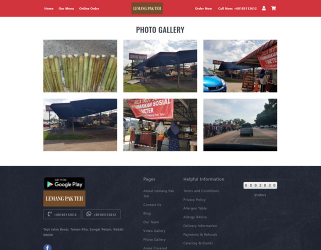 Lemang pak Teh Website Design