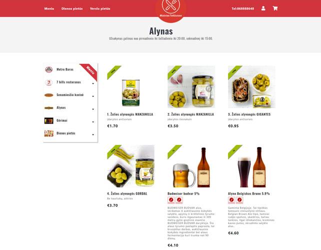Maistas Telsiuose Website Design