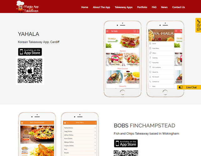 Takeaway app developers Website