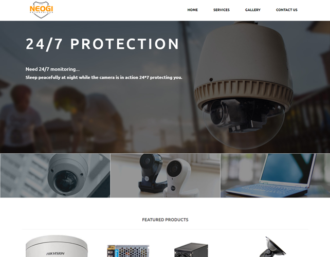 Security solution Website Design