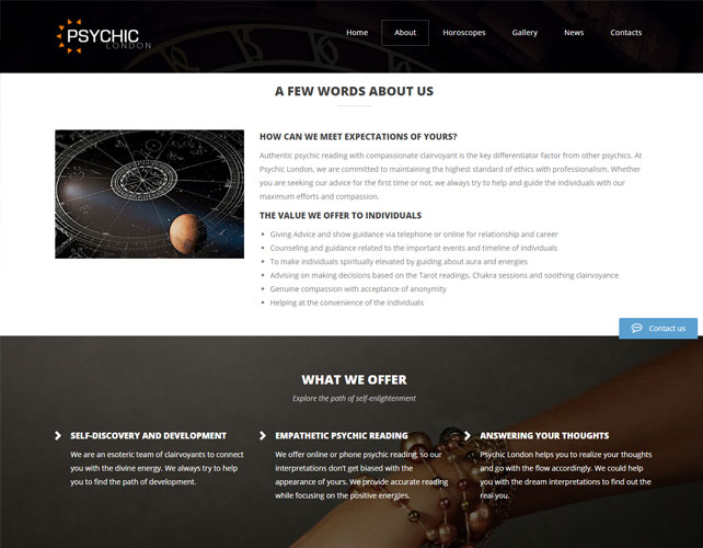 Authentic psychic reading Website