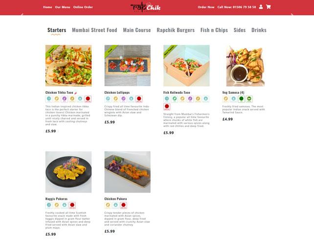 Restaurants Takeaways Website