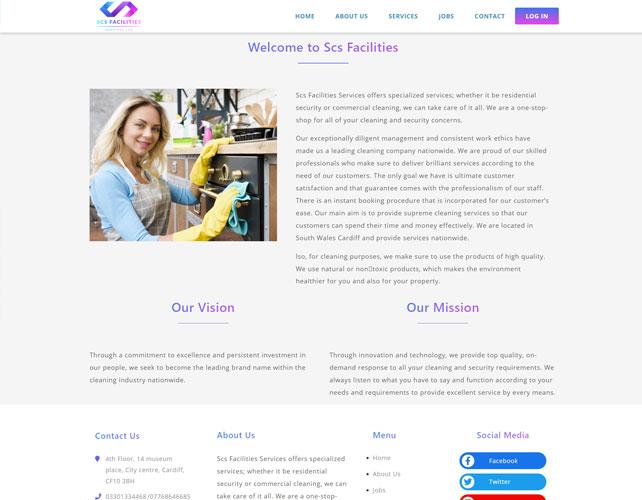 Scs Facilities Website Design