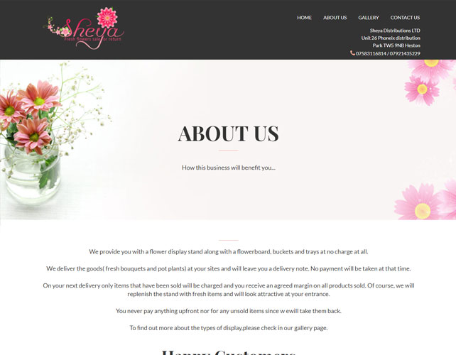 Flowers Business Website Design