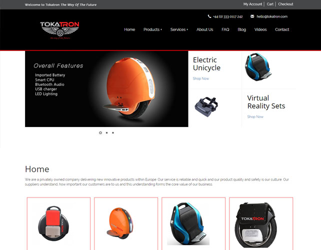Responsive Woocommerce Website