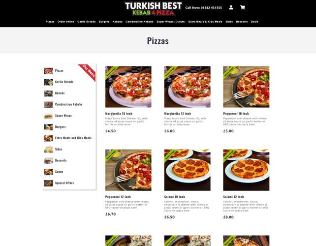 Turkish Kebab & Pizza Website Design