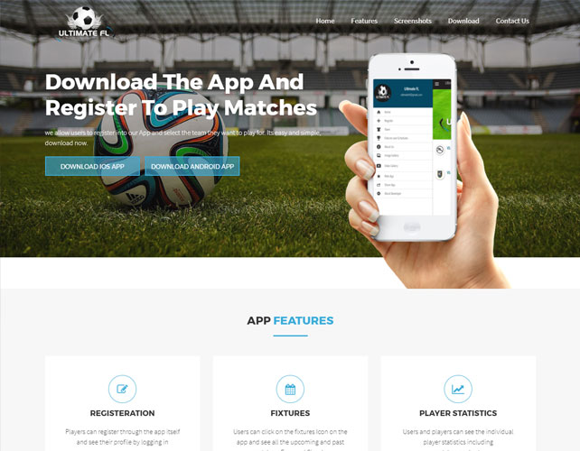 Sports Website Design