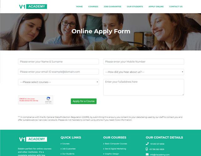 Website For Web Design & Development Courses