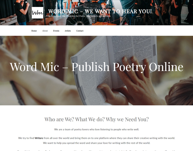 Poetry Website Design