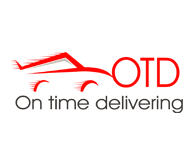 On time delivering Website logo