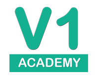 V1 Academy Website logo